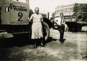 """1933-1935 - Luigi Ciabocco con i soci nonchè parenti """"Vergari"""" nella loro avventura in Africa (eritrea, Etiopia e Somalia) per conto del governo italiano - realizzazione di strade e acquedotti; autotrasporti"""