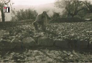 Anni '50 Consorzio di Bonifica Balle del tenna - Penna San Giovanni - realizzazione strada in MACADAM