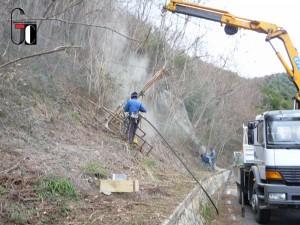 Montaggio barriera paramassi S.S.-18-Cuccaro-Vetere